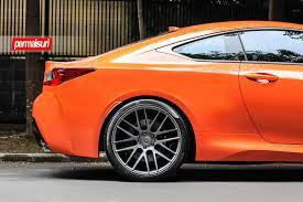 lexus rcf coupe orange vossen wheels lexus rcf vossen forgedprecision series vps 308