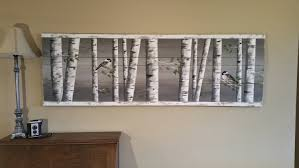 Wall Mural White Birch Trees Pallet Art White Birch Greenery White Birch Reclaimed Wood