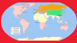 clear world map with country names a map of george orwell s 1984 big think