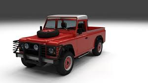 land rover 110 interior land rover defender 110 pick up w interior 3d model obj fbx stl