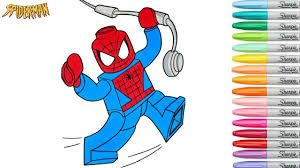 lego spiderman coloring book pages marvel superhero episode