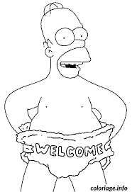 coloriage homer simpson welcome dessin