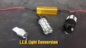 light bulb conversion to led led light bulb conversion nissan 350z youtube