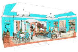 Livingroom Candidate Davis Roland Design Architectural Illustration