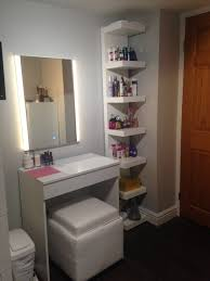 Home Depot Vanity Table Ikea Lack Shelf Pinterest Isabubbble Makeup Tutorials