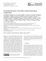 bureau martin d h es the hadgem2 family of met office unified pdf available