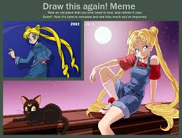 Sailor Moon Meme - draw this again sailor moon by louistrations on deviantart