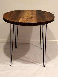 Reclaimed Wood Bistro Table Bistro Table With Hairpin Legs Table By Swdesigns74 On Etsy