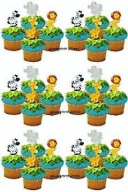 jungle safari noah u0027s cupcake picks 24 animal cake toppers birthday