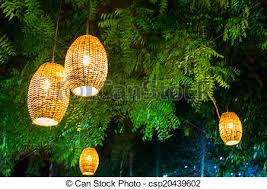 stock photography of ls lights hanging on tree woven