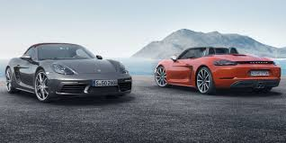 Porsche Boxster Lowered - 2017 porsche 718 boxster and boxster s here they are officially