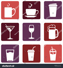 martini logo vector set drinks icons tea coffee stock vector 293126765