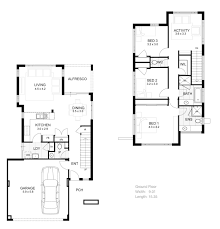 Floor Plans For Narrow Lots by Interesting 2 Story House Floor Plans Residential Plan Philippines