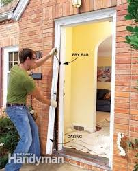 How To Install An Exterior Door Frame How To Replace An Exterior Door Doors House And Construction