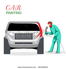 vector images illustrations and cliparts car painting a man