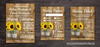 sunflower wedding programs wedding programs vintage rustic wedding invitations