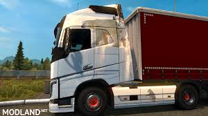 volvo 2013 truck volvo fh 2013 white bear skin mod for ets 2