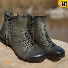 womens designer boots designer fringe leather ankle booties cw305011