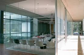 the modern workspace with decorative glass divider invisibility 32910 modern glass office design waplag excerpt dental office interior design design office layout