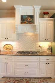 Creative Kitchen Backsplash Kitchen Creative Kitchen With Chevron Subway Tile Backsplash