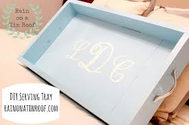 monogrammed serving trays diy tray crafthubs