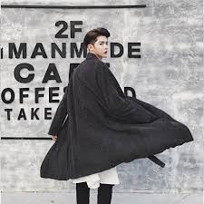 hairdresser capes trendy trendy men s loose black gray gothic cape avant grade rib long front