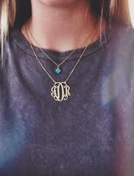 Monogrammed Necklace Monogram Necklace Pictures Photos And Images For Facebook