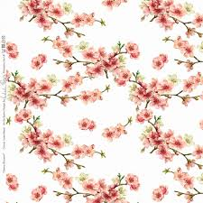 Cherry Blossom Curtains Designer Upholstery Curtain Vintage Floral Fabric Cherry Blossom