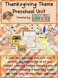 thanksgiving theme resource for preschool