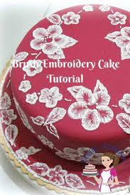 wedding cake tutorial brush embroidery cake tutorial lace effect veena azmanov