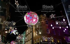 carnaby street london christmas decorations stock photo 498453642