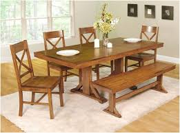 Dining Room Sets With Benches Table Dining With Benches Functional Bench For Awesome Targovci Com
