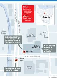 Map Of Jakarta Starbucks Shuts All Jakarta Stores After Outlet Damaged By Bomb
