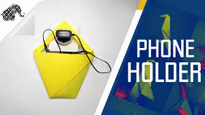 origami how to make an origami phone charger holder youtube