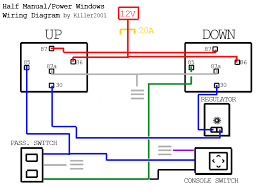 half manual power window wiring diagram diagram and jeeps