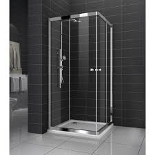 Shower Screen Doors Genoa New Square Sliding Doors Shower Screen No Base 8 Mm Glass