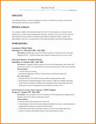 Resume For Call Center Sample 8 Examples Of Resumes Objectives Resume Reference