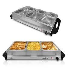 3 Crock Slow Cooker Buffet by Hwncwm33 Nutrichef Food Warmer Buffet Server Warming Tray
