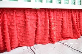 amazon com coral ruffled crib skirts extra long dust ruffle 3