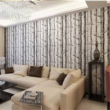 aliexpress com buy beibehang birch tree pattern non woven wood