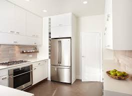 white frameless kitchen cabinets contemporary kitchen w