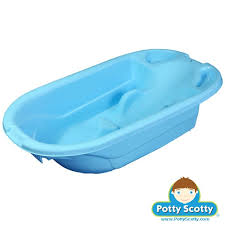 blue baby bath tub by innovations potty concepts