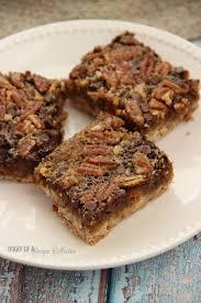 paula deen thanksgiving pecan pie chocolate pecan pie cookie bars diary of a recipe collector