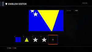 Flag Of Bosnia Call Of Duty Black Ops 3 How To Create The Bosnian Flag Youtube