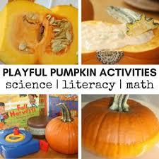 kindergarten and preschool pumpkin activities fall learning
