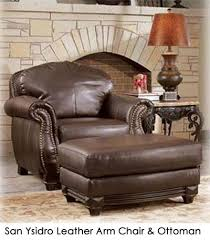 Club Chairs With Ottoman San Ysidro Leather Arm Chair Ottoman Town Country Event Rentals