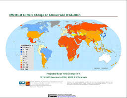 World Climate Map by Maps Climate Effects On Food Supply Sedac