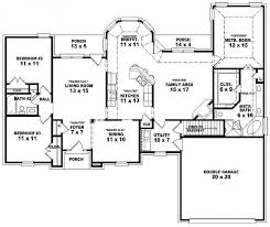 Cottage Floor Plans One Story Wonderful House Floor Plans 3 Bedroom 2 Bath Story 4 Layouts