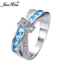 aliexpress buy new arrival hight quality white gold top quality light blue ring white gold filled jewelry vintage