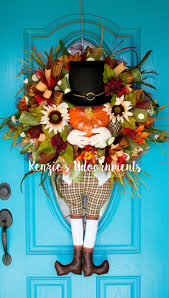 320 best thanksgiving wreaths decorations images on